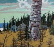 Return of the Forest 30 x 40 inches acrylic on canvas by Robert Genn (1936-2014)