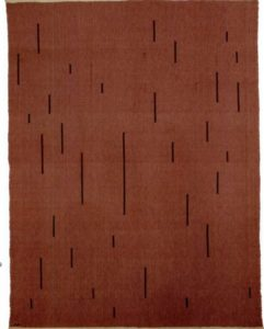With Verticals, 1946 Cotton and linen 154.9 x 118.1 cm by Anni Albers