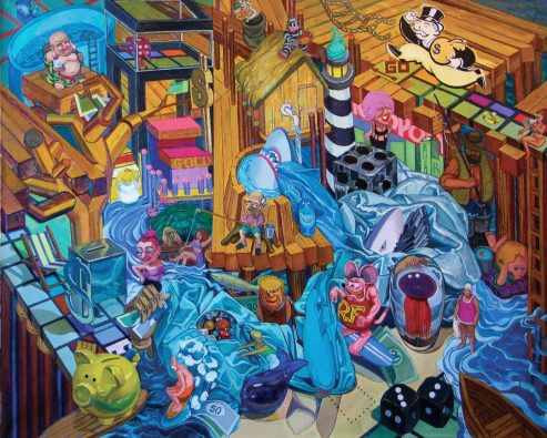McCann_FollowTheMoney_2012_48x60_oil on canvas