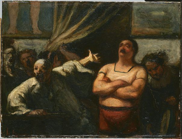 Daumier, The Strongman image