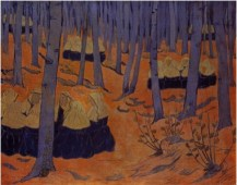 Paul Serusier_1892_oil on canvas_Breton Women The Meeting in the Sacred Grove