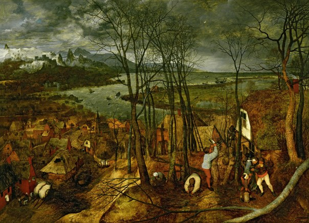 XAM509 The Gloomy Day - Spring, 1559 by Bruegel, Pieter the Elder (c.1525-69); 18x163 cm; Kunsthistorisches Museum, Vienna, Austria; Flemish, out of copyright