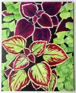 """""""Coleus"""" 8x10"""" Acrylic Paint on Claybord $135"""