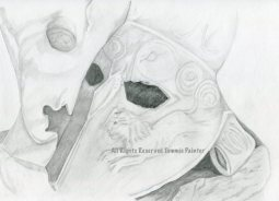 """Roman Mask"" 9x12"" Graphite on Drawing Paper $35"