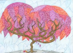"""""""Japanese Maple"""" 9x12"""" Colored Pencil on Smooth Bristol"""
