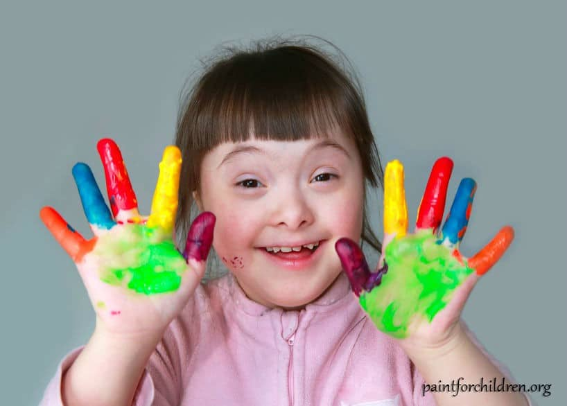 make an autistic child smile painting bf - Children Painting Images