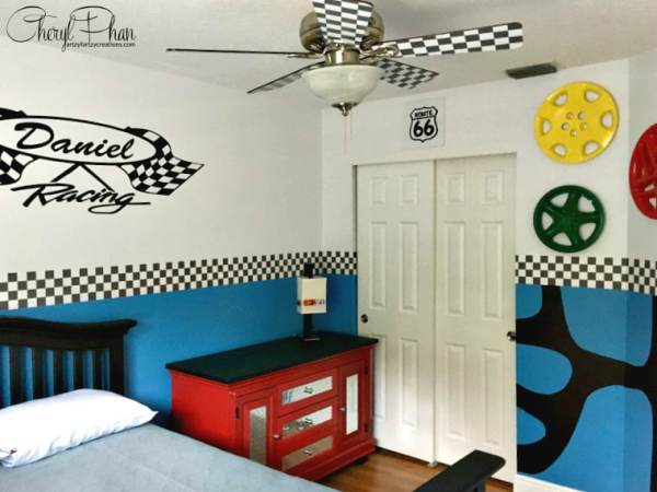 Race Car Boys Room Cheryl Phan