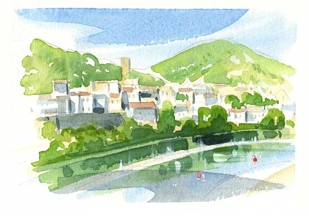 Roquebrun location - Painting vacation in the South of France