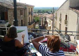painting in Neffies painting holiday france