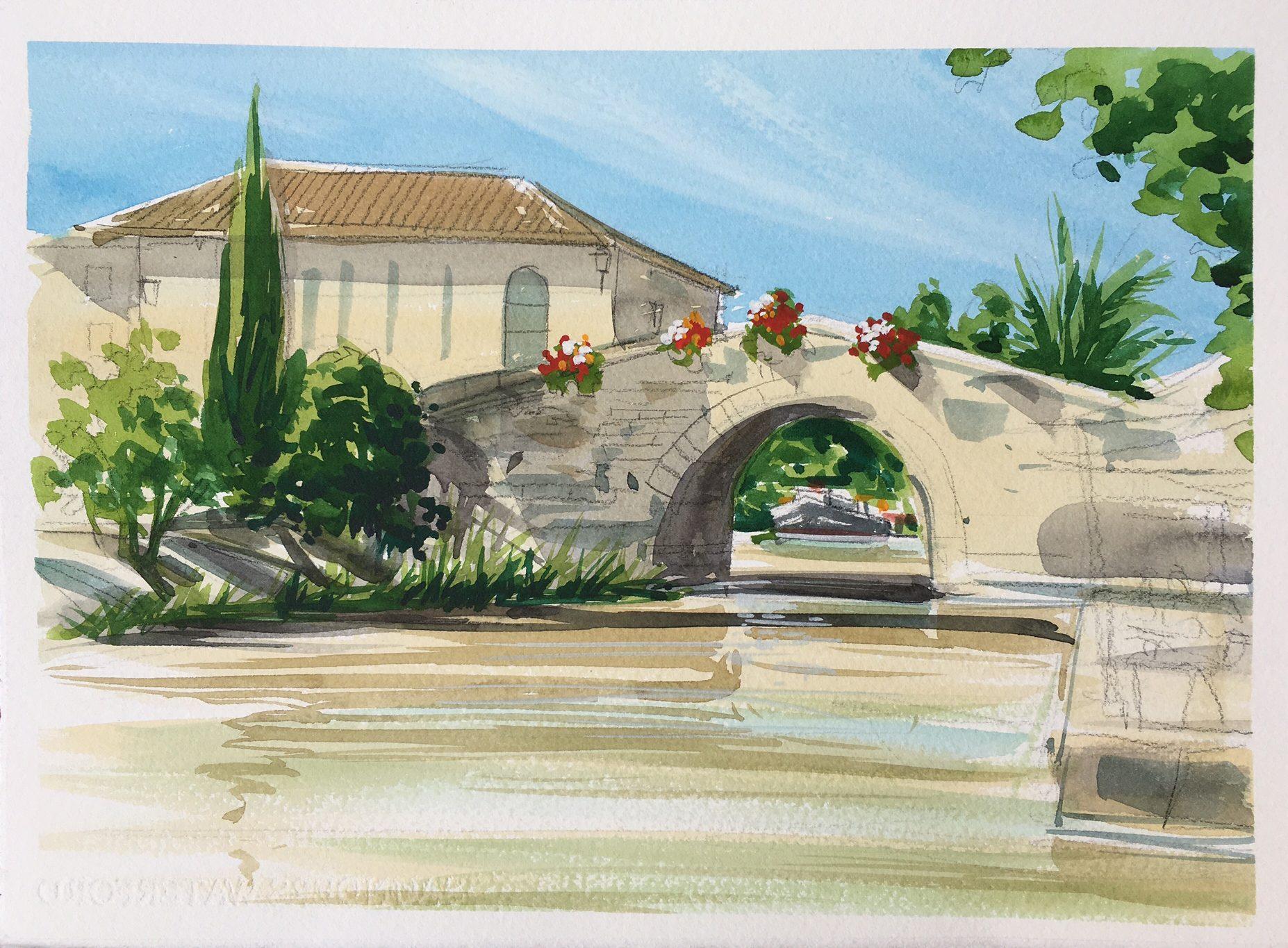 Bridge on the canal du midi