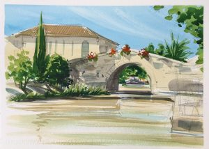 Bridge on the canal du midi