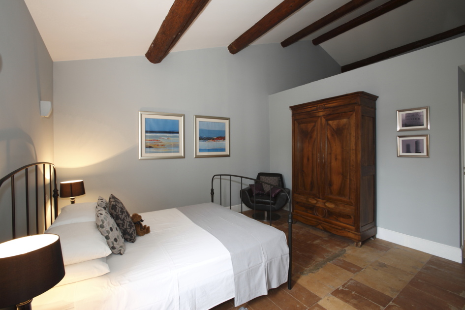 Art holiday accommodation bedroom