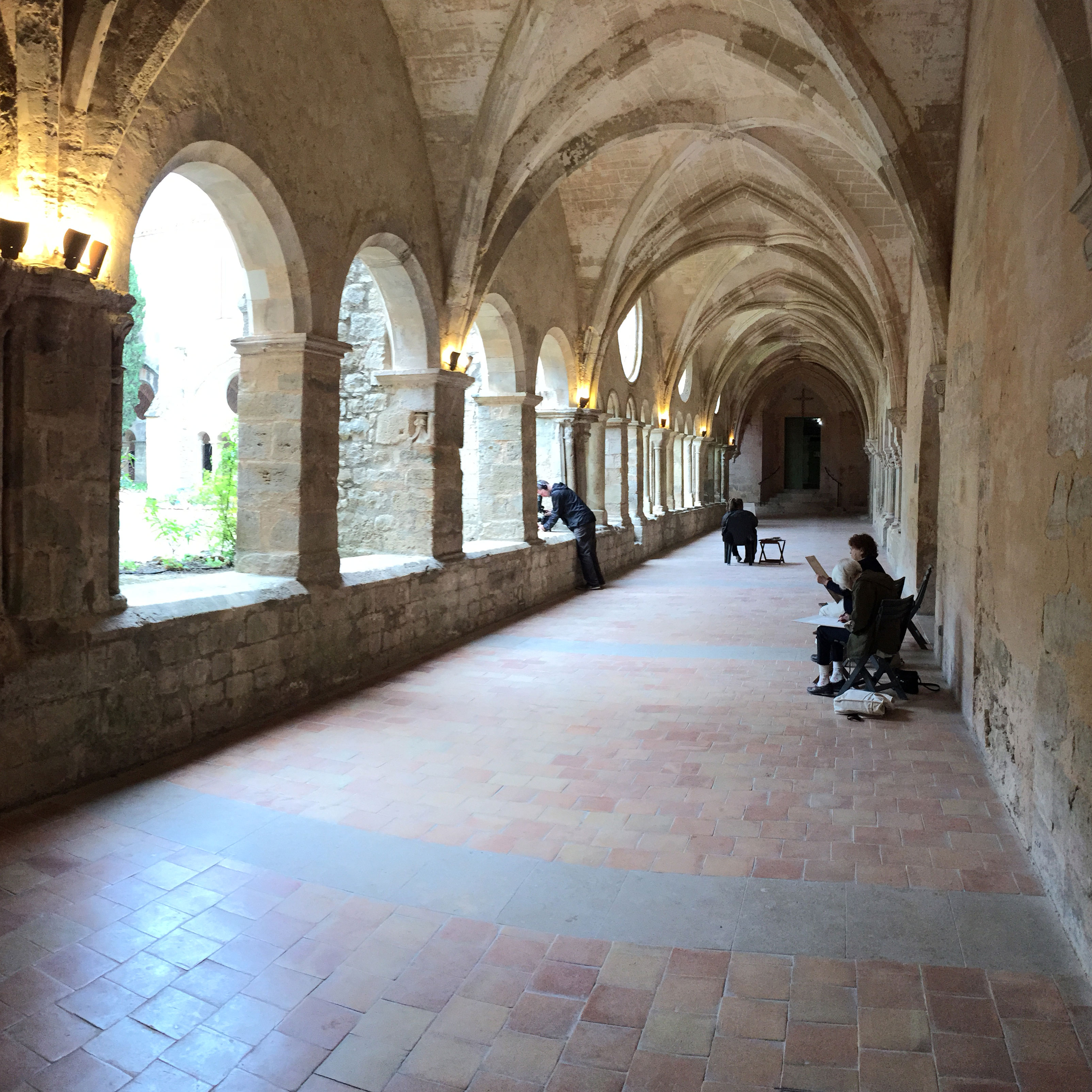 abbey de valmagne painting holiday france