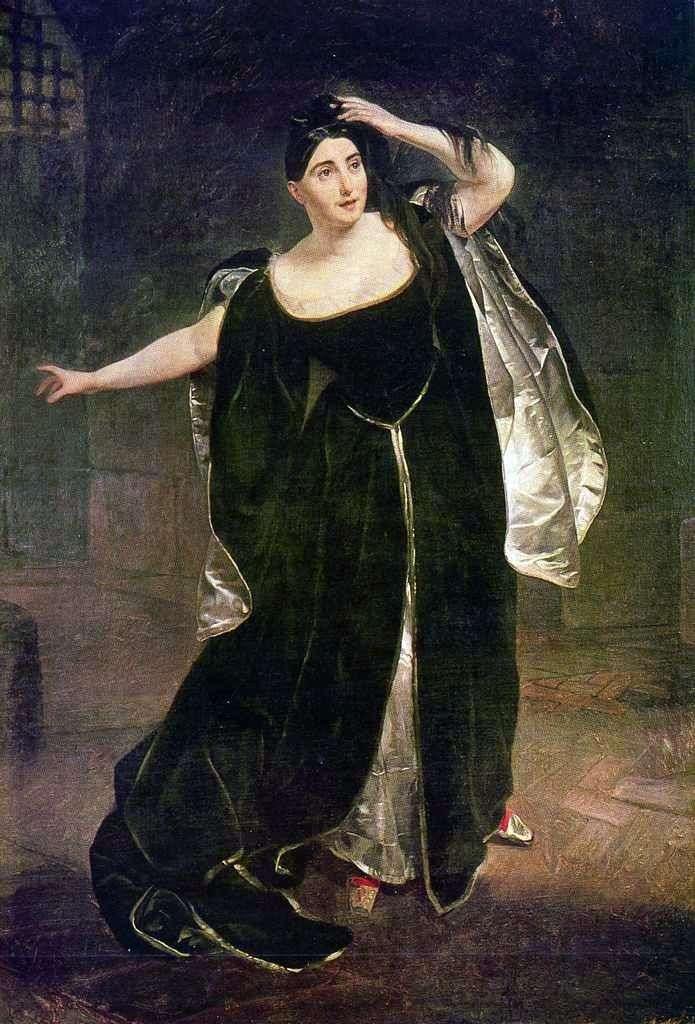 Portrait of Giuditta Pasta by Karl Bryullov ❤️ - Bryullov Karl