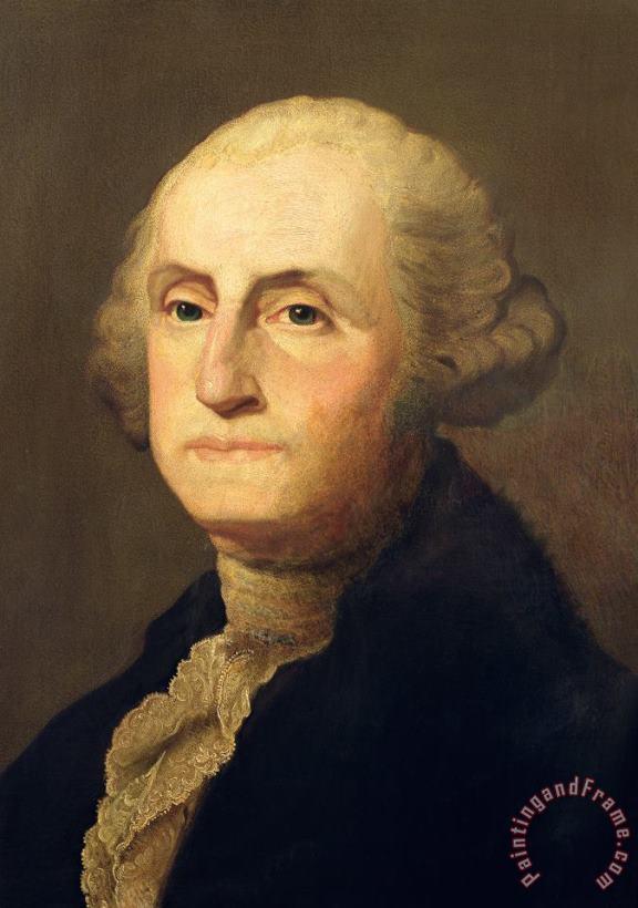 painting portrait stuart president george washington poster art print bb12548b kunst autrement dit antiquitaten kunst