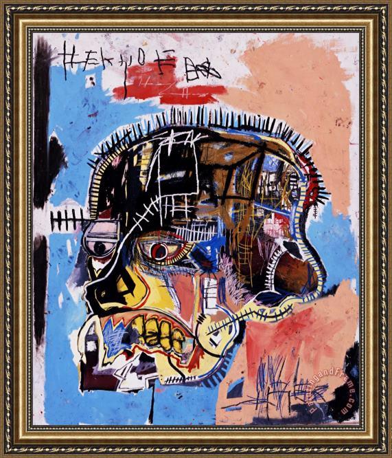 Jean-michel Basquiat Head Framed Print