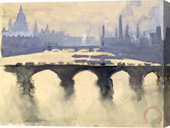 J. Pennell, Out of my London window [http://paintingandframe.com]