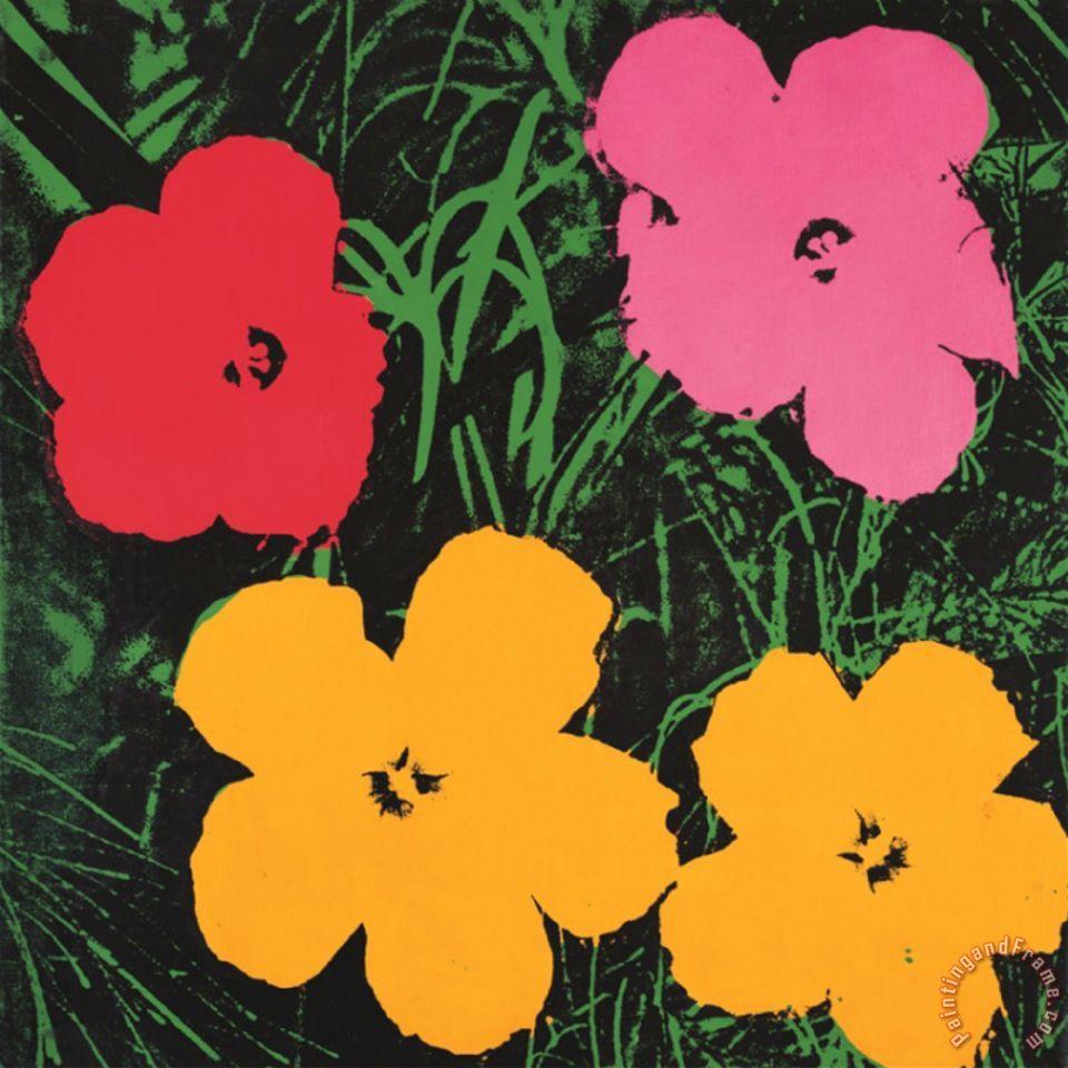 Paintings Warhol Andy Flower