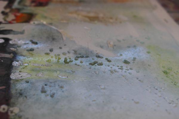 coarse salt on wet wash
