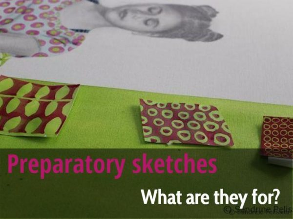 Preparatory Sketches, what are they for ? by Sandrine Pelissier on ARTiful, painting demos
