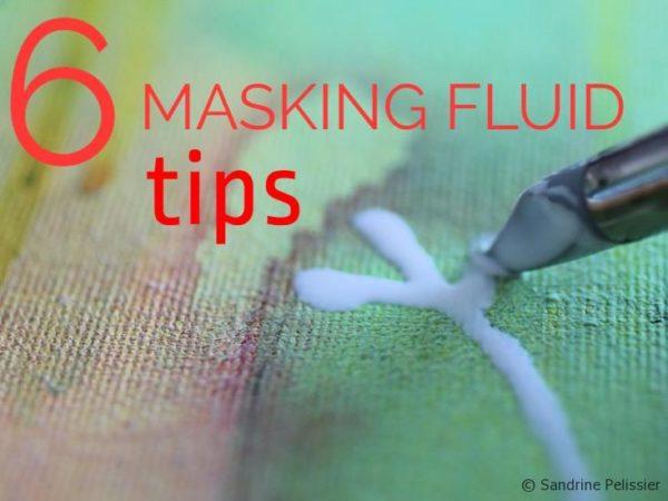 6 masking fluid tips