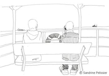 On the ferry to Samui Island