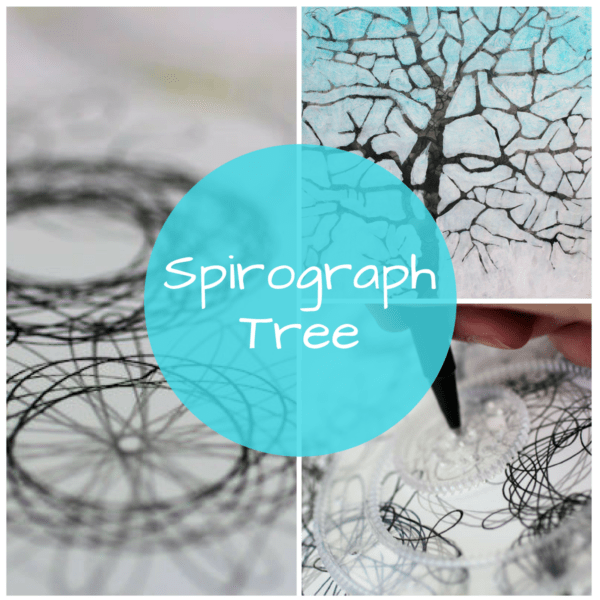 Spirograph Tree: Using a spirograph for visual texture