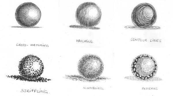 6 shading techniques for your drawings - ARTiful: painting ...