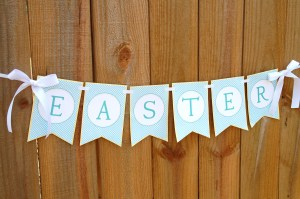 Easter Banner Free Printable