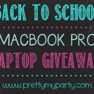 Back To School MacBook Pro Laptop Giveaway