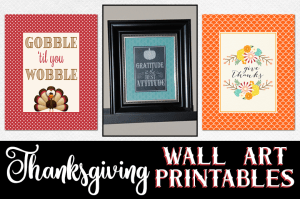 Thanksgiving Wall Art Printables