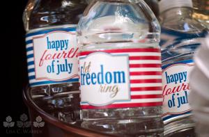 Let Freedom Ring Water Bottle Label