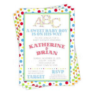 Alphabet Baby Shower Invitation