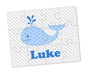 Blue Whale Personalized Puzzle