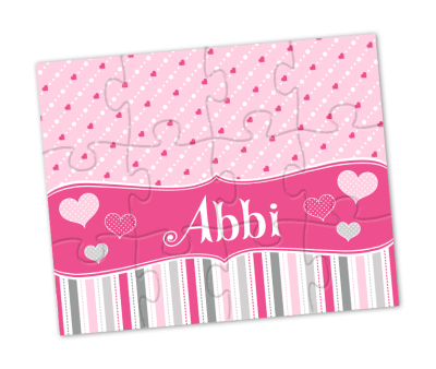 valentine hearts personalized puzzle