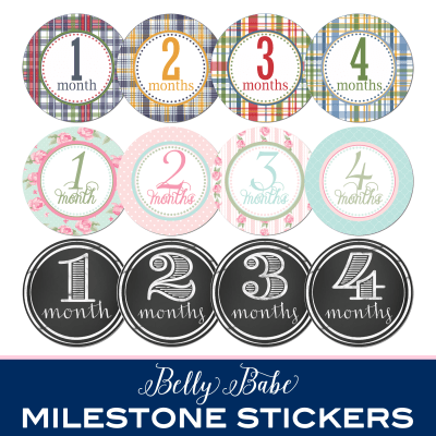 Belly Babe Milestone Stickers