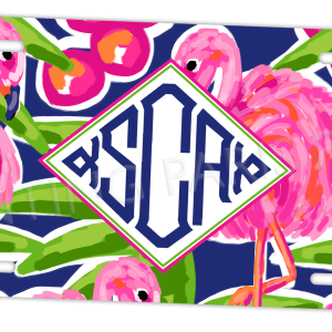 Flamingo Monogram License Plate - Island Collection