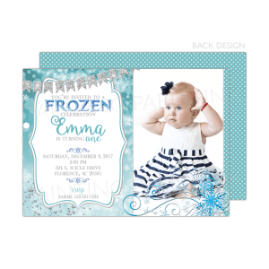 Frozen Winter Birthday Party Invitation