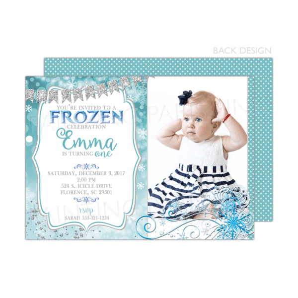 Frozen Winter Birthday Party Invitation
