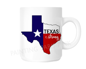 Texas Strong Ceramic Mug Harvey Relief