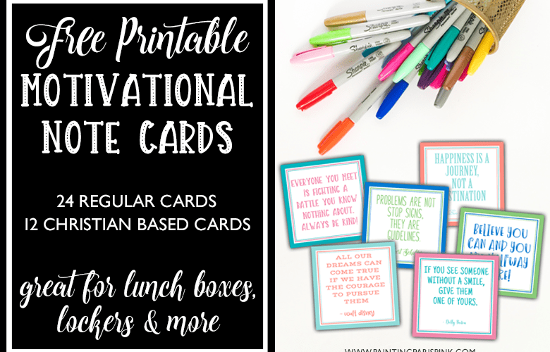 Motivational Note Card Printables