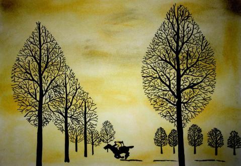 Рене Магритт, картина Потерянный жокей