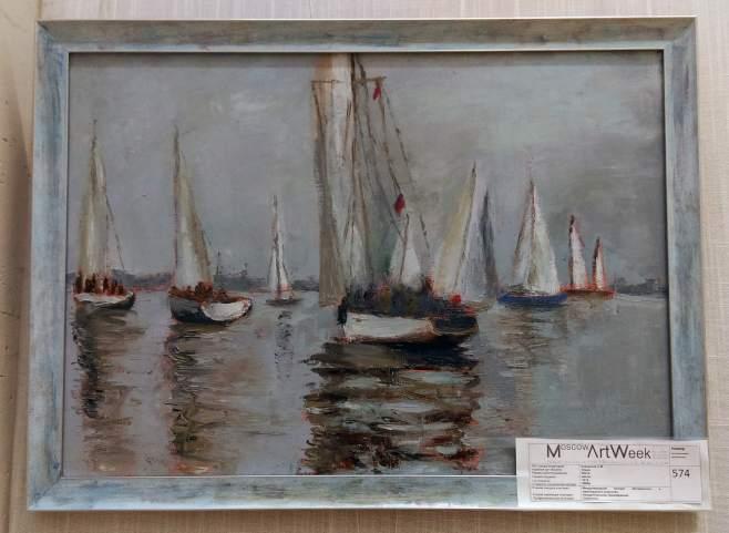 Корсантия, картина Лодки