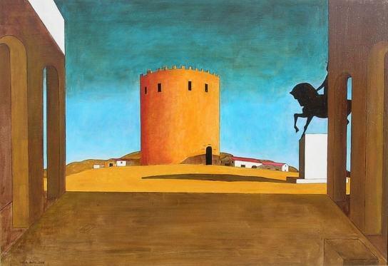 Джорджо Кирико, Площадь Италии с красной башней