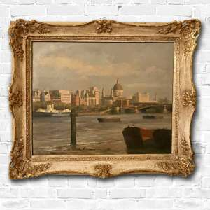 A framed oil painting by David Shepherd