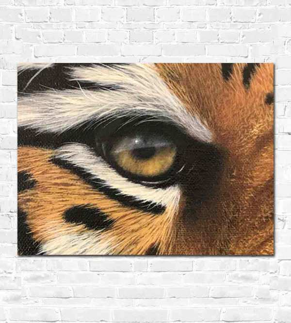 Oil painting of a tiger's eye