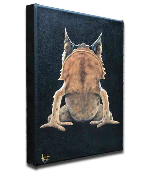 A painting of a Horned Toad - Feeling Horny