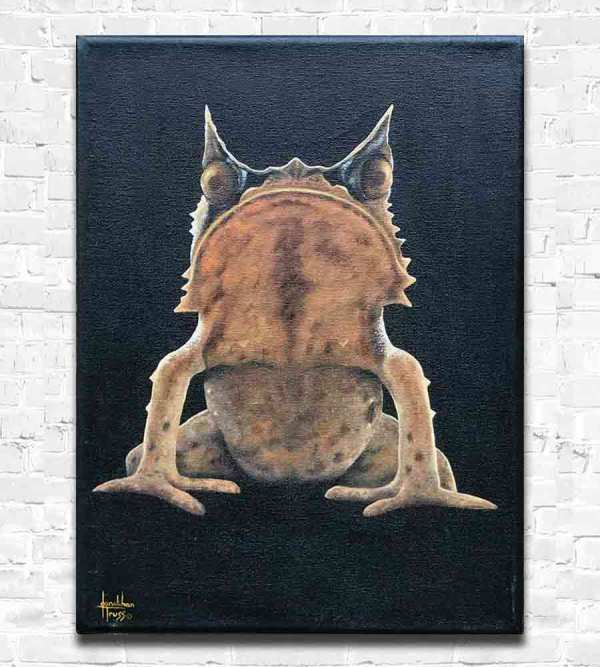 Frog oil painting by Jonathan Truss