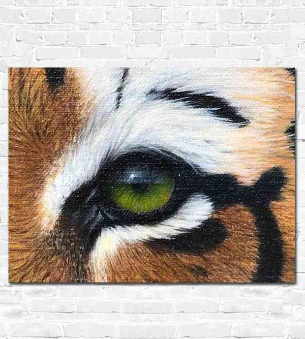 Painted tigers eye.