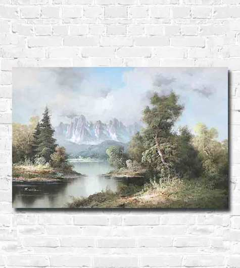 A painting of a beautiful scene in Canada